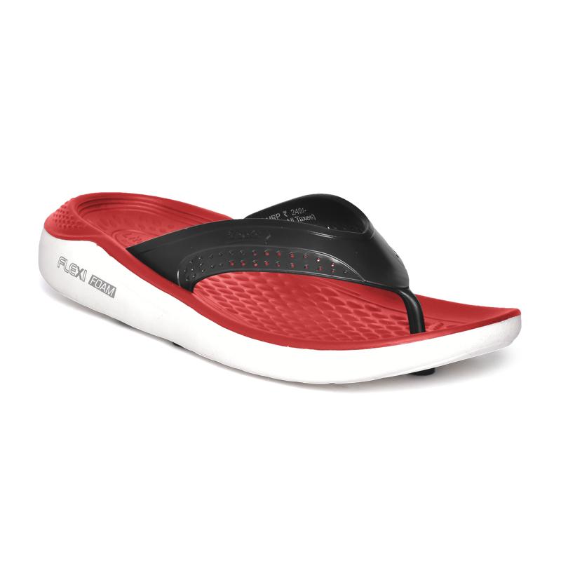 Comforz Flexi Foam-02 White/Red Slippers